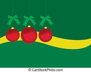 Christmas Ornaments - EPS Vector three red christmas...