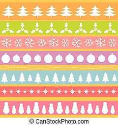 Christmas ornaments pattern background. Vector illustration