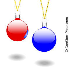 Christmas Ornaments Red & BlueChristmas Ornaments Red & Blue
