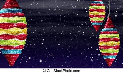Christmas Ornaments Snow Loop
