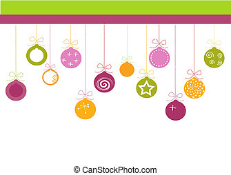 Christmas Ornaments with place for your text