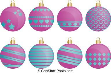 Christmas ornaments - Set of Christmas ornaments for...