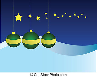 Christmas Ornaments - EPS Vector Three Christmas ornaments...