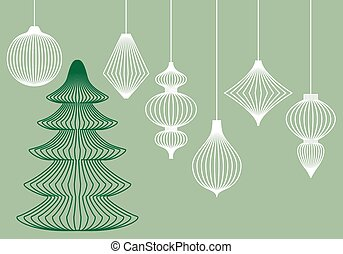 Christmas ornaments, vector set