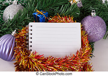 Christmas Ornaments with Notebook