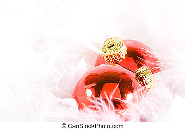 Christmas Ornaments with white space - Isolated Christmas ...