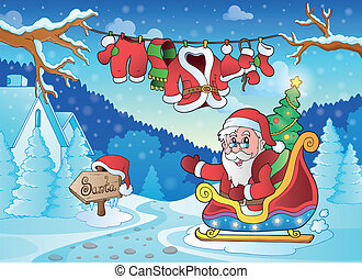 Christmas outdoor theme 4 - eps10 vector illustration.