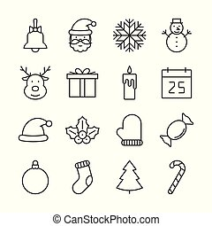 Christmas outline icons