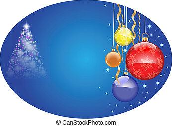 christmas oval