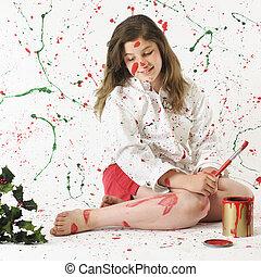 Christmas Paint Mess