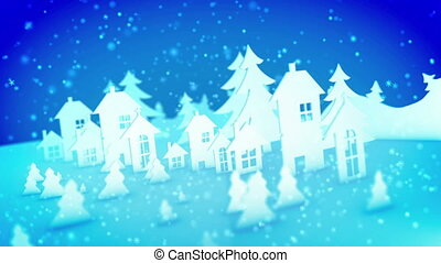 """""""Christmas paper buildings and sparkling snow"""" - """"Funny 3d ..."""