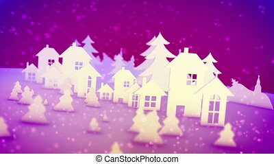 """""""Christmas paper images in pink backdrop"""""""