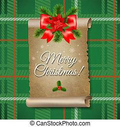 Christmas Paper Scrolls Banner