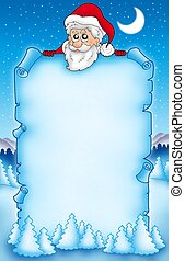 Christmas parchment with Santa Claus 1