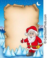 Christmas parchment with Santa Claus 4