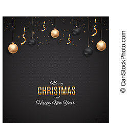 Christmas Party Background. Vector Illustration
