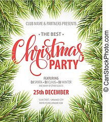 Christmas Party design template. Vector illustration