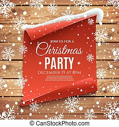 Christmas party invitation poster.
