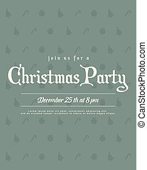 Christmas Party Invitation Poster Style