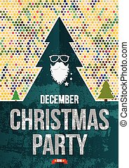 Christmas party poster.