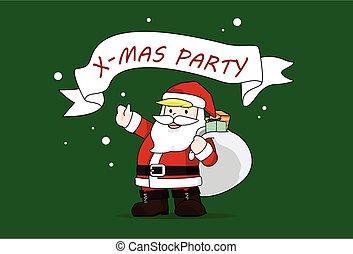 Christmas party Santa