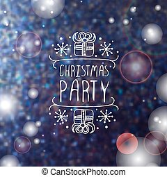 Christmas party - typographic element