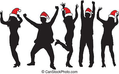 Christmas Party Vector Clip Artby