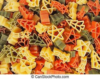 Christmas pasta macro