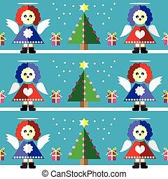 Christmas pattern angel