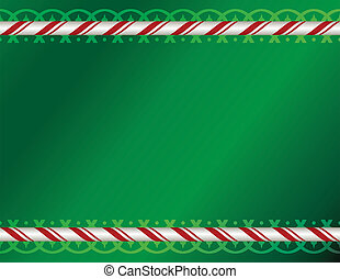Christmas Pattern Background Illustration - A green ...