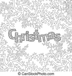 christmas pattern for adult coloring book