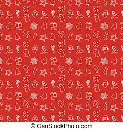 christmas pattern ornament red background