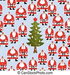 Christmas pattern. Santa Claus and