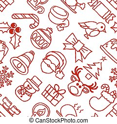 Christmas Pattern Seamless Background