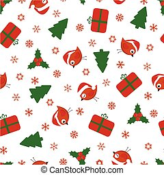 christmas pattern with birds