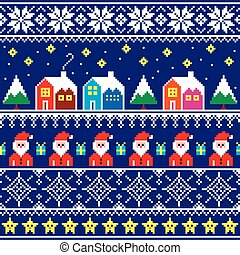 Christmas pattern with Santa