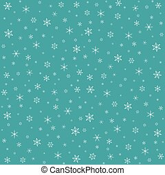 Christmas pattern with snowflakes. Vector illustration -...