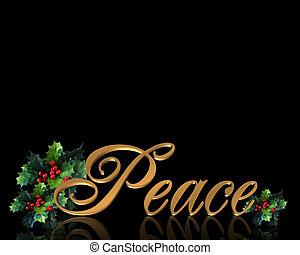 Christmas Peace on black - Image and Illustration...