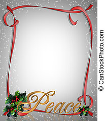 Christmas Peace Ribbon Fr - Image and Illustration...