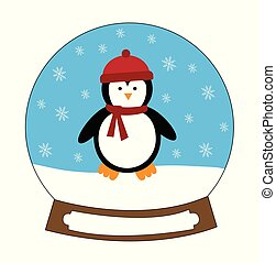Christmas Penguin Snowglobe