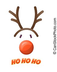 Deer hat isolated on white background - Christmas photo...