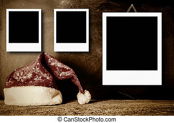 Christmas photo frames for three photos