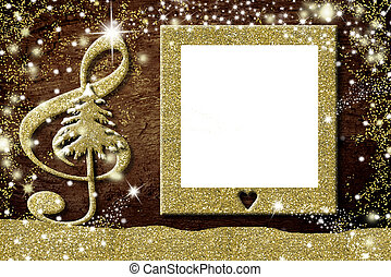 Christmas photo frames music  cards