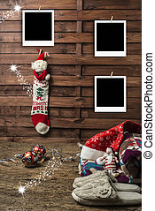 Christmas photo frames postcards