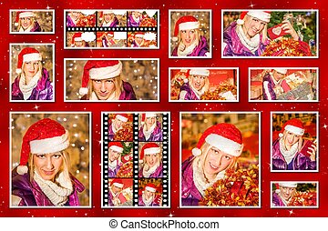 Christmas pictures collage