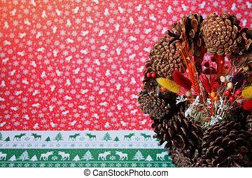 Christmas pinecone background