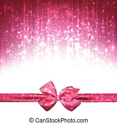 Christmas pink abstract background. - Pink winter abstract...