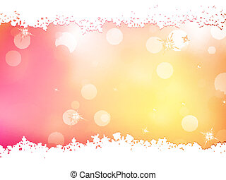 Christmas pink background with snow flakes. EPS 10