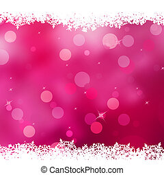 Christmas pink background with snow flakes. EPS 10 -...