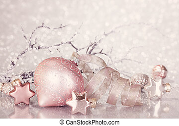 Christmas pink decoration